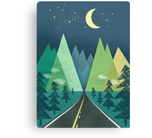 the Long Road at Night Canvas Print