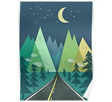 the Long Road at Night Poster