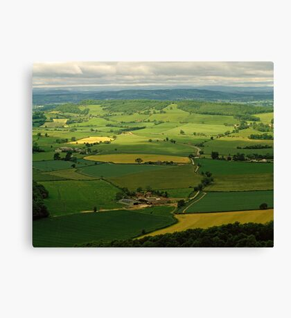 West Country landscape, England, UK, 1980s Canvas Print