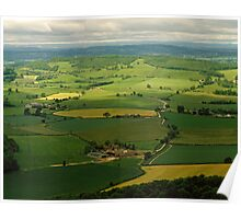 West Country landscape, England, UK, 1980s Poster