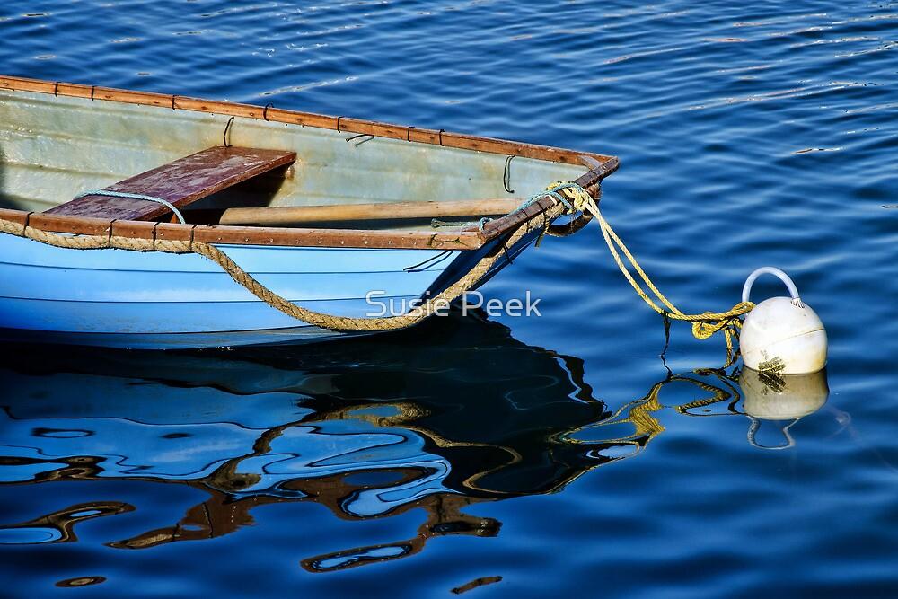 Little Blue Skiff ~ Lyme Regis Harbour by Susie Peek