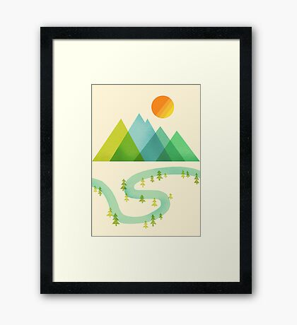 Bend in the River Framed Print
