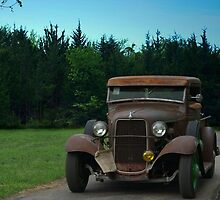 """""""Ozark Whiskey and Moonshine"""" 1932 Ford Pickup Truck by TeeMack"""