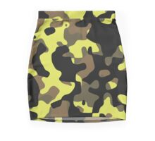 Electric Lemonade Camouflage Pattern Mini Skirt