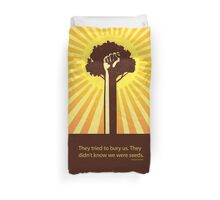 minimalist Mexican proverb Duvet Cover