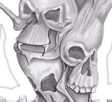 Triple Skull Tree Sticker