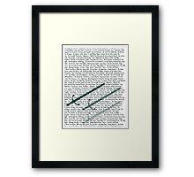 Charming Sword Framed Print