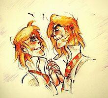 Weasley Twins by SoraNiizu
