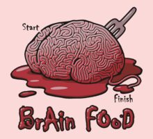 Maze Shirts: Brain Food by melaiken