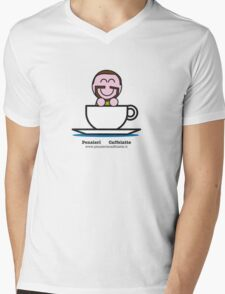 """Pensieri & Caffelatte """"Plus"""" Mens V-Neck T-Shirt"""