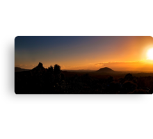 Mt Coonowrin and Mt Beewah Sunrise Canvas Print