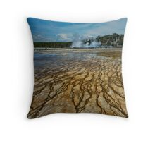 Yellowstone Blood Vessels Throw Pillow