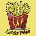 Maze Shirts: Large Fries by melaiken