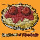 Maze Shirts: Spaghetti 'n Meatballs! by melaiken