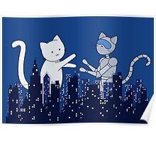 Giant Kitten vs MechaCat Poster