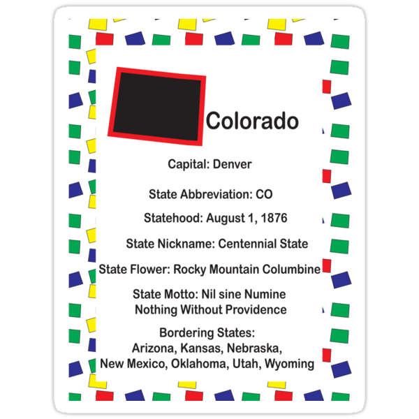 Colorado Information Educational by ValeriesGallery
