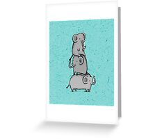 Elephant Totem Greeting Card