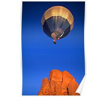 Hot Air Balloon Monument Valley Poster