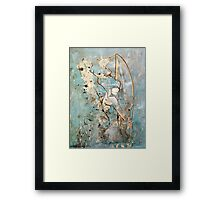 Surfboard Betty Framed Print