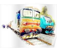 Albano Laziale railway station: trains Poster