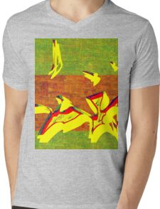 0341 Abstract Thought Mens V-Neck T-Shirt