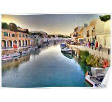 Ciutadella Port -Minorca Poster