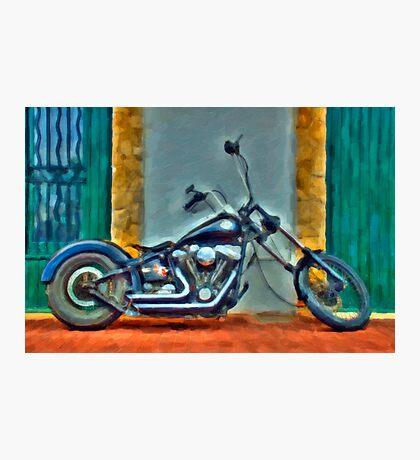 Harley Davidson oil Photographic Print
