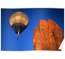 Hot Air Balloon Monument Valley 4 Poster