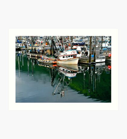 Fishing boats Kodiak Island Alaska Art Print