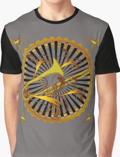 Trombone Swirls Graphic T-Shirt