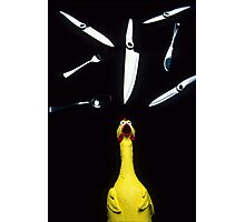 When Rubber Chickens Juggle Photographic Print