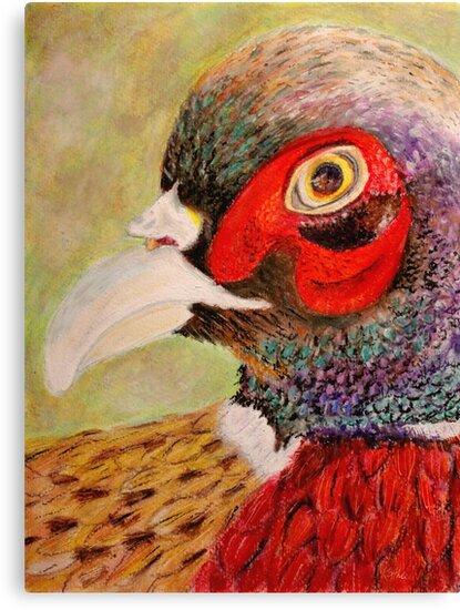 A Pheasant Portrait by Kathie Nichols