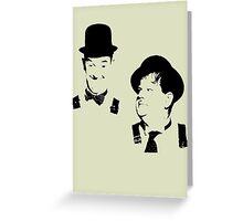 Stan Laurel & Oliver Hardy Greeting Card