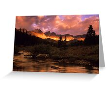 Maligne Pass Morning Light Greeting Card