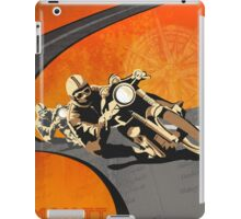 retro motorcycle Isle of Man TT poster iPad Case/Skin