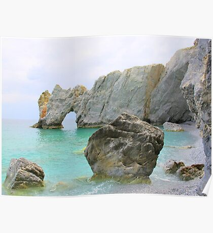 Lalaria Beach Arch and Rocks Poster