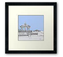 Brighton Bandstand & Pier ( Pale Blue ) Framed Print