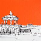 Brighton Bandstand & Pier ( Orange ) by Adam Regester