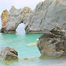 Limestone Arch - Lalaria Beach, Skiathos Island, Greece. by Honor Kyne