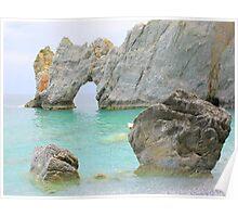 Limestone Arch - Lalaria Beach, Skiathos Island, Greece. Poster