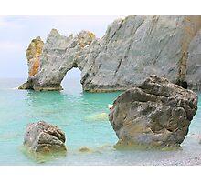 Limestone Arch - Lalaria Beach, Skiathos Island, Greece. Photographic Print
