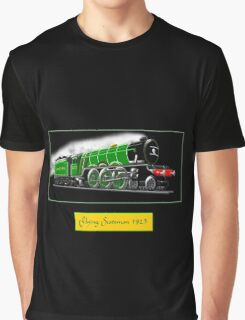 Steam Locomotive - The Flying Scotsman 1923, T-shirt Graphic T-Shirt