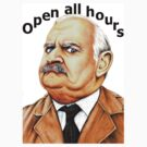 Open all hours t-shirt by Margaret Sanderson