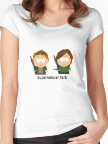 Supernatural Park Women's Fitted Scoop T-Shirt