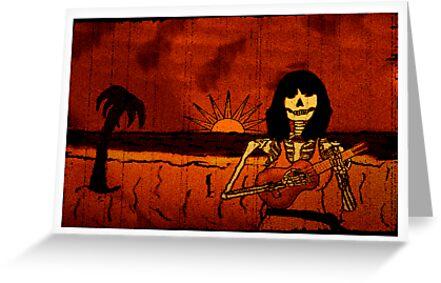 Ukulele Lady Postcard by Barton Keyes