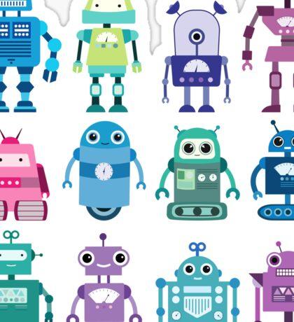Robot Grid  Sticker