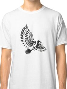 Raven Crow Shaman tribal tattoo design Classic T-Shirt