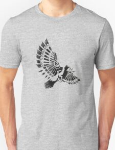 Raven Crow Shaman tribal tattoo design Unisex T-Shirt