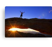 Celebrate The New Day Canvas Print