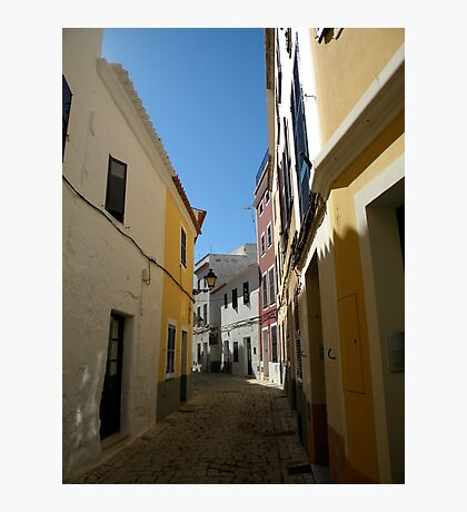 Narrow streets in Mahon Photographic Print
